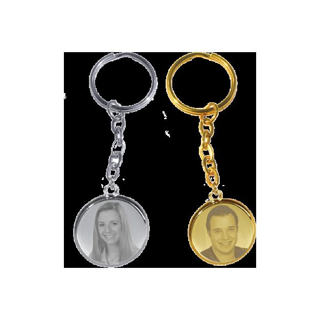 Personalisierbarer Schlüsselanhänger mit Foto auf Metall