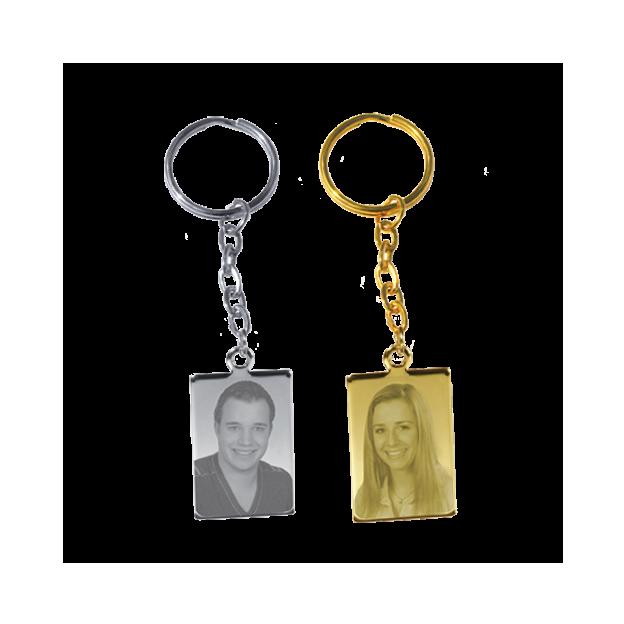 Photo gravée sur métal - porte clés