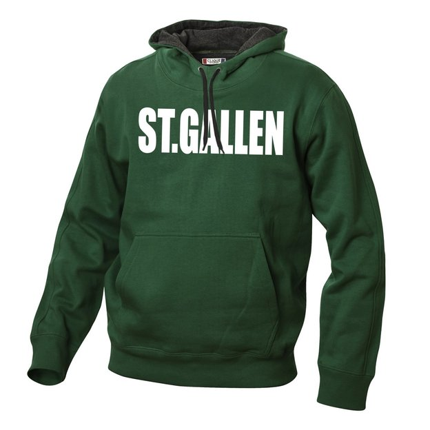 City-Hoodie sweat personnalisable vert, Taille S