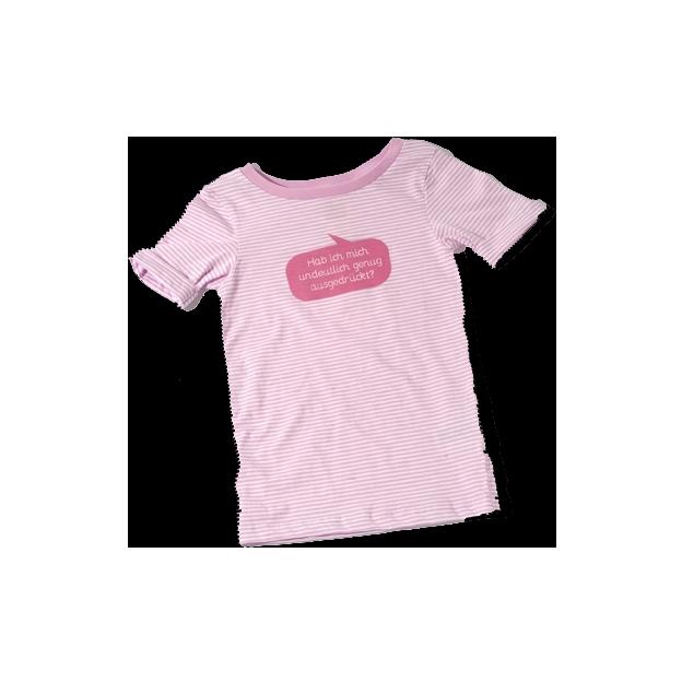 Baby Shirt Habe ich mich undeutlich genug… pink 6-12 Monate