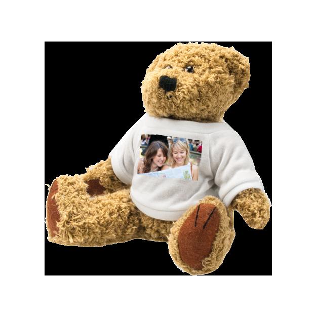 Brauner Teddy Bär mit Foto