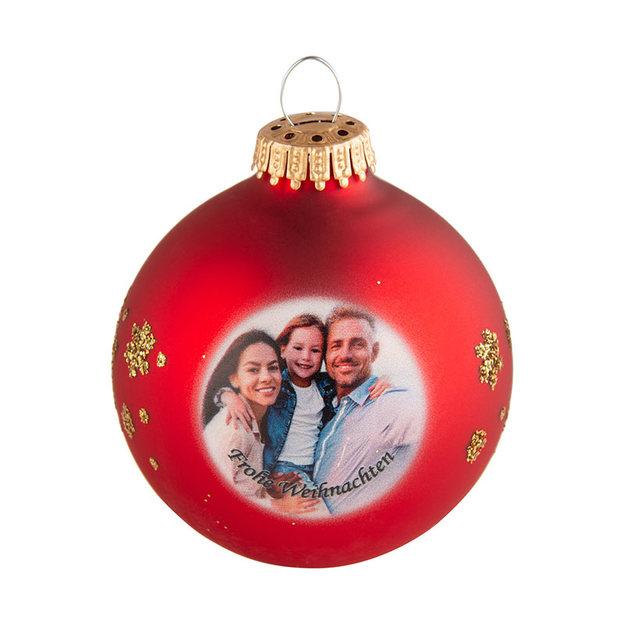 Boule de Noël personnalisable par photo