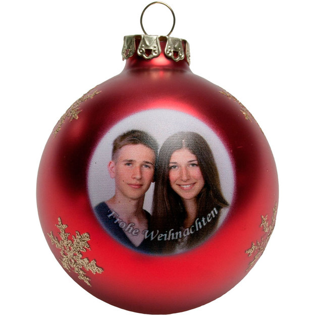 Boule de Noël personnalisable par photo