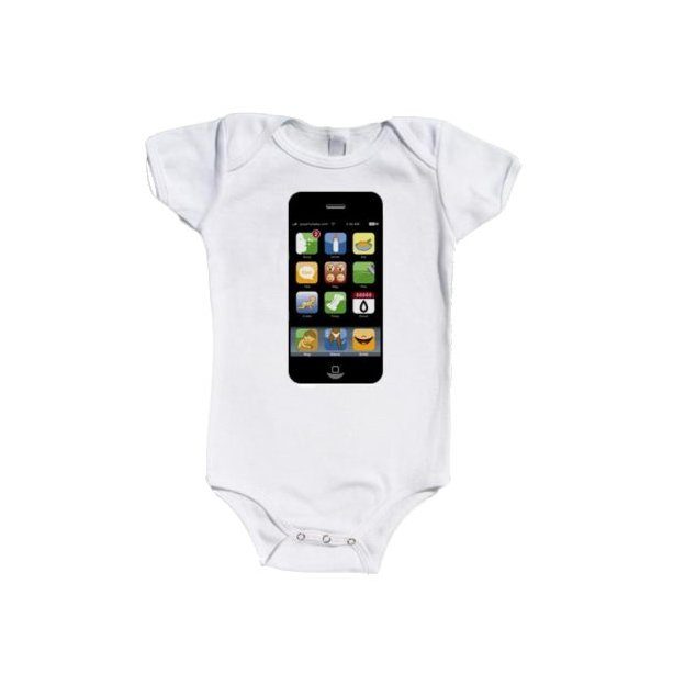 Iphone my Baby Shirt kurzärmlig, 12-18 Monate