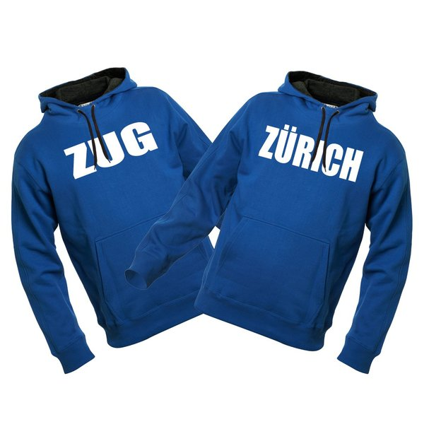 City-Hoodie sweat personnalisable bleu, Taille. M