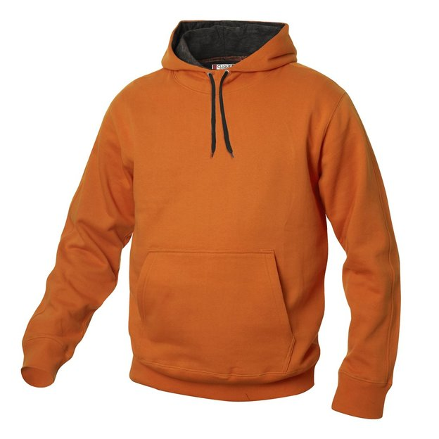 City-Hoodie sweat personnalisable orange, Taille. L
