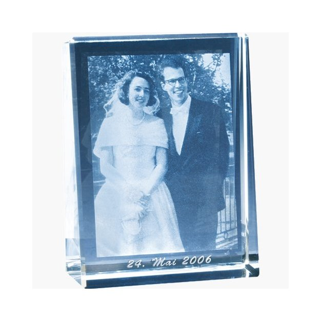 Foto in Glas - Frames Hochform 140x105x33mm
