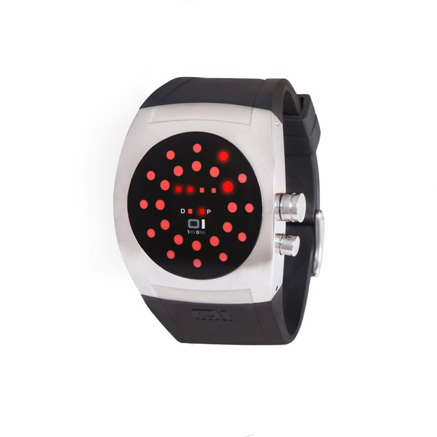 Montre binaire The One Screw-Me rouge