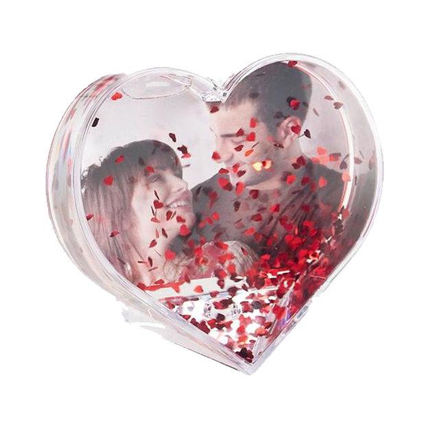 Boule à neige personnalisée Coeur
