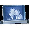 Photo Cristal gravée au laser sur socle