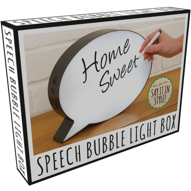 Leuchttafel Sprechblase zum beschriften
