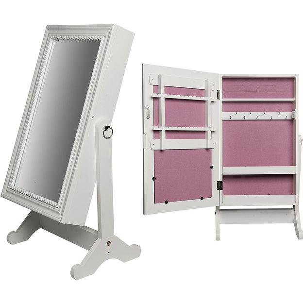 Miroir avec armoire à bijoux