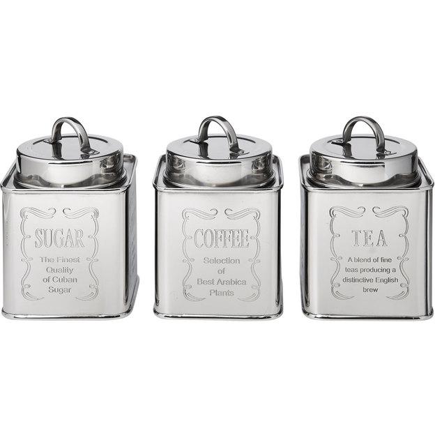 Boîte de conservation en métal rétro pour sucre, thé, café