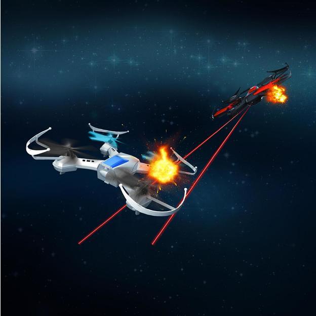 Drone/quadricoptère de combat 4 canaux – set de 2
