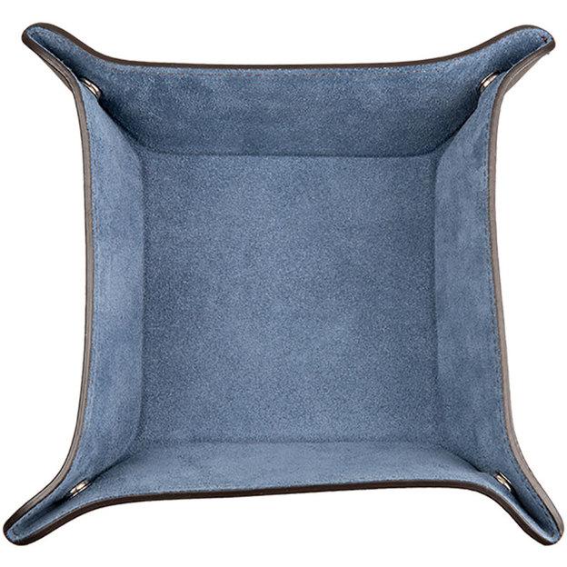 Vide poche bleu en daim 0714