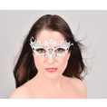 Venezianische Maske aus Metall Weiss