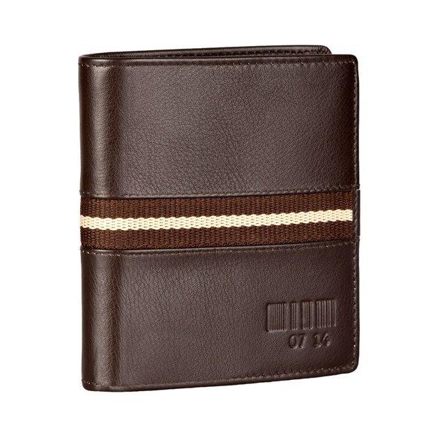 0714 Portemonnaie Hochformat Leandro braun