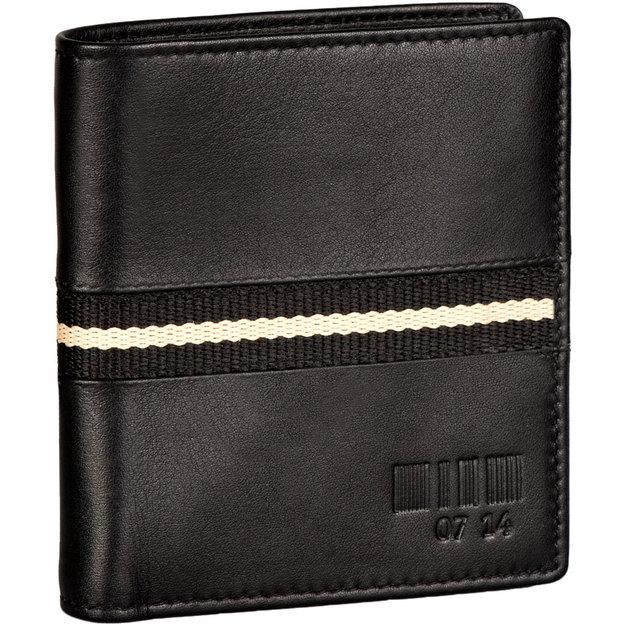 0714 Portemonnaie Hochformat Leandro schwarz