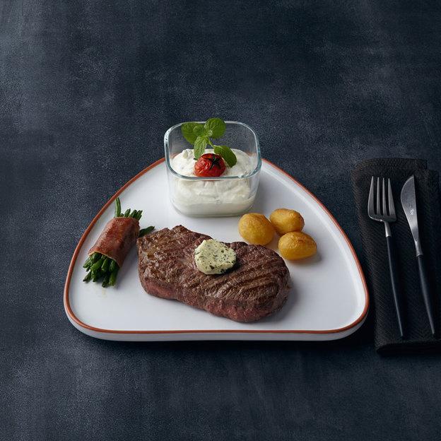 Assiette à steak Gus de Leonardo