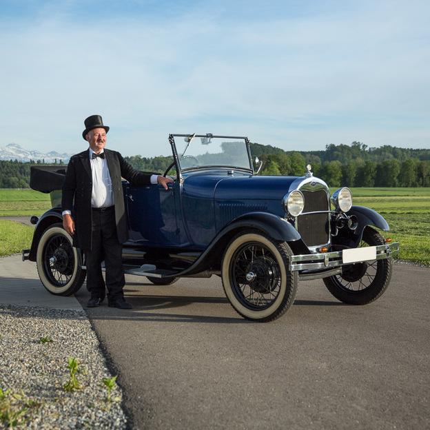 Ford A Cabrio Jahrgang 1929 fahren