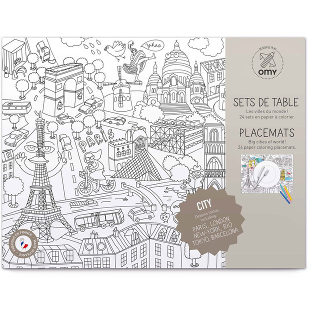 Omy sets de table City Map