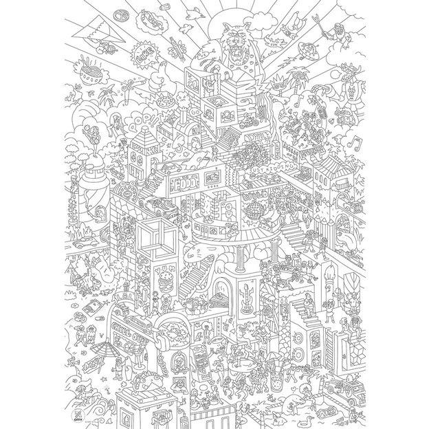 Poster à colorier Omy Pays et Villes