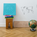 Wandbild aus Nagel & Faden - We Are The World
