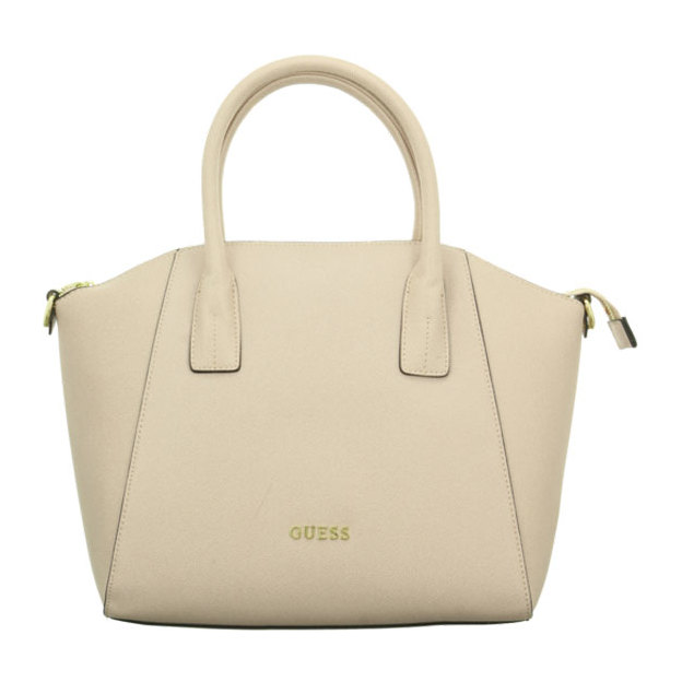 Guess Handtasche Medium Satchel Isabeau offwhite