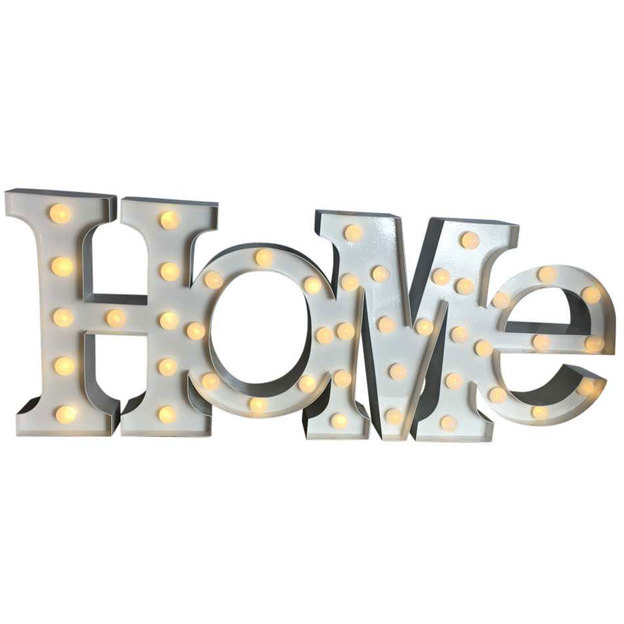 Ecriteau HOME avec lumières LED Las Vegas