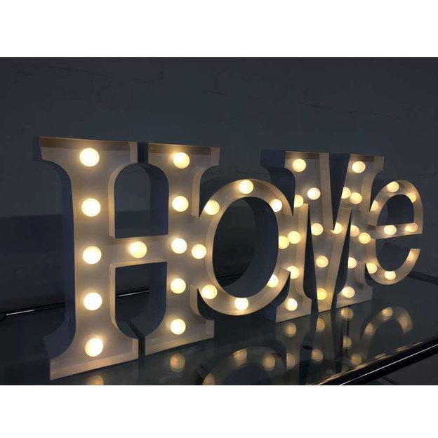 Schriftzug HOME Vegas Lights
