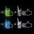 Trinkglas TouchON! mit LED Beleuchtung