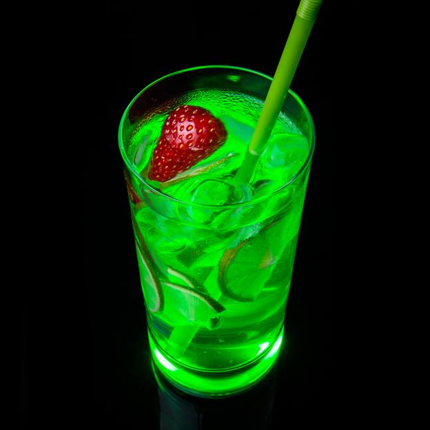 Trinkglas TouchON! mit LED Beleuchtung Grün