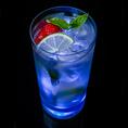 Verre TouchON! LED bleu