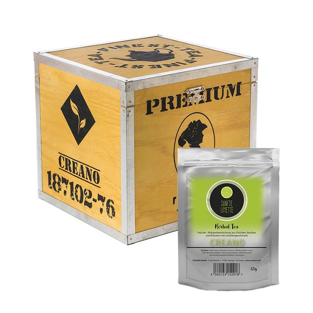 Geschenkset Creano Früchtetee in der Holzbox Herbal Tea