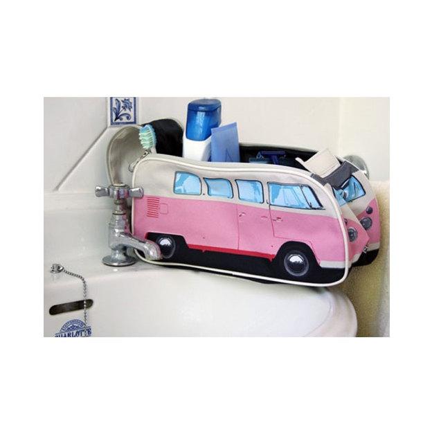 VW Bulli Kulturbeutel Washbag rosa