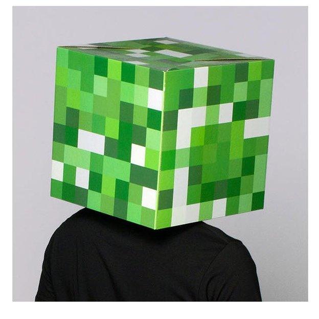 Masque minecraft a imprimer