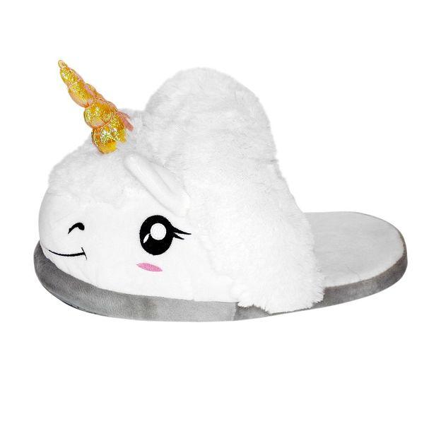 Pantoufles peluches licorne