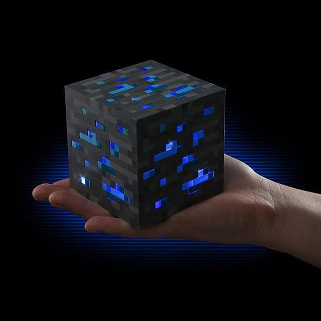 Minecraft Nachtlicht-Würfel Diamanterz 1-2-3 (Diamond Ore)