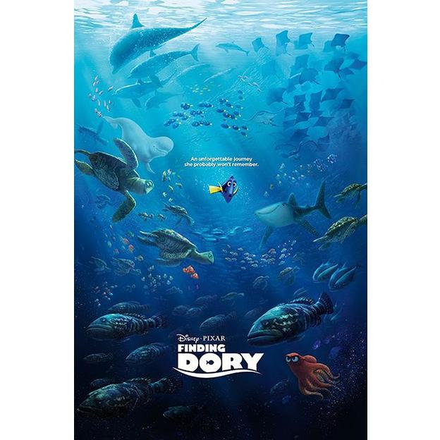 Finding Dory Poster Unforgettable Journey