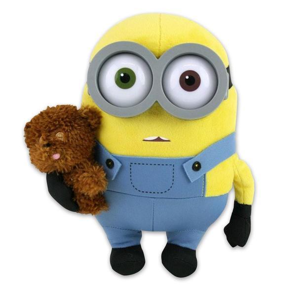 Minions Premium Plüschfigur Bob mit Teddy