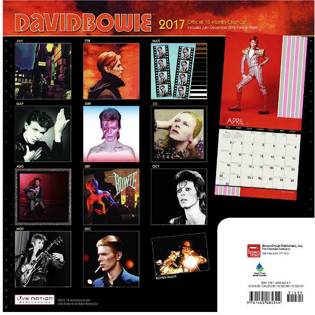 David Bowie Kalender 2017