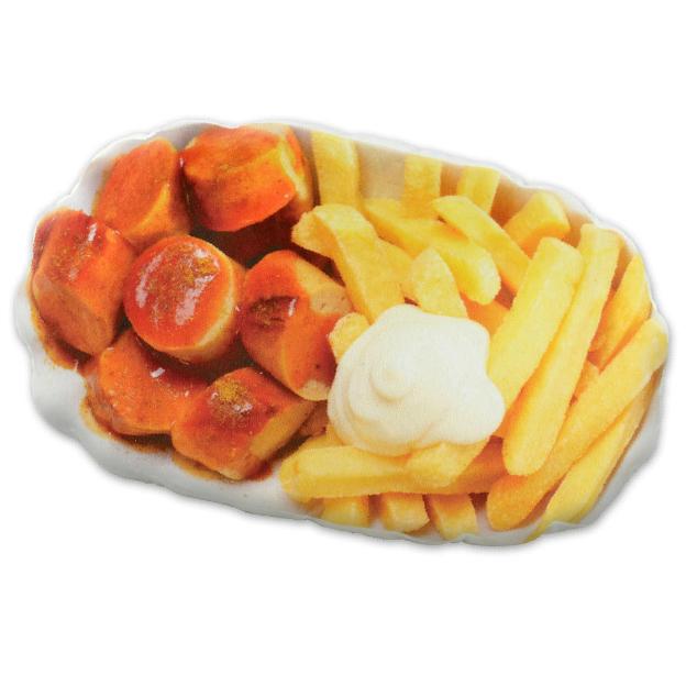 Currywurst & Pommes  Kissen