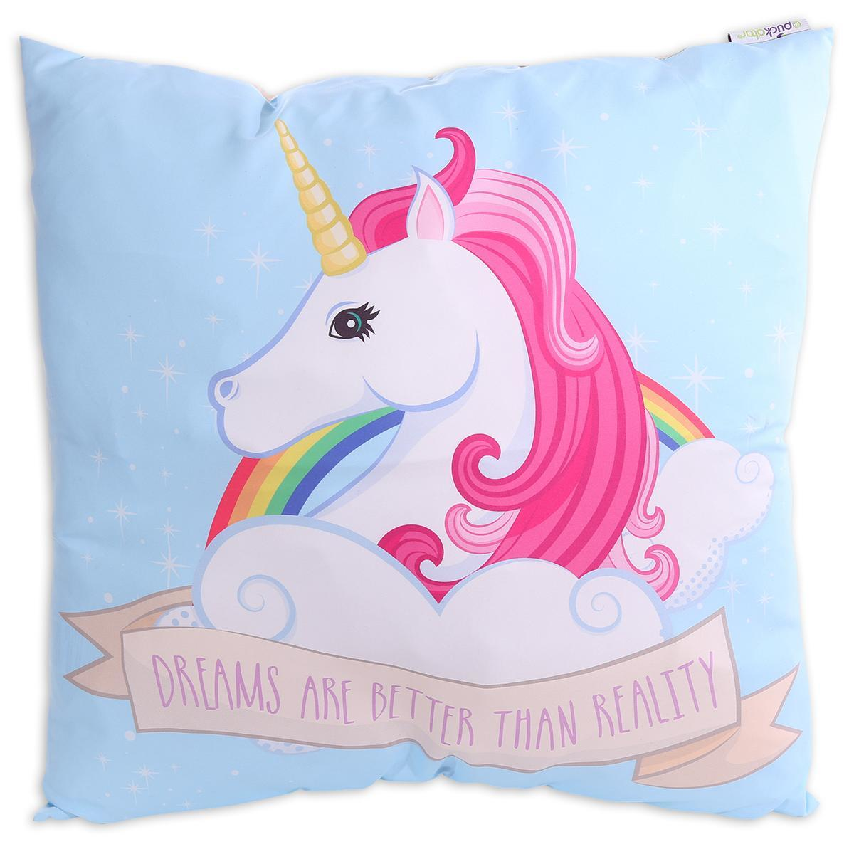 "Coussin Licorne ""Dreams are better than Reality"""