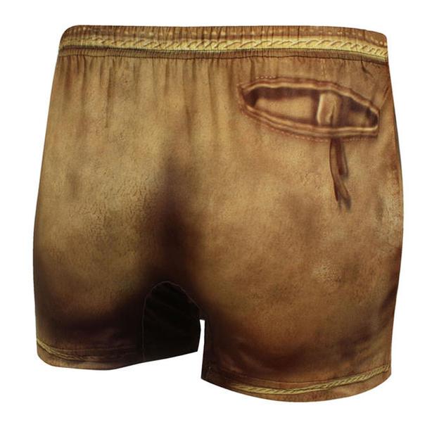 Boxer Bavarois motif culotte de cuir