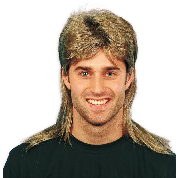Perruque nuque longue, style années 80