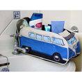 Trousse de toilette bus VW rétro bleue