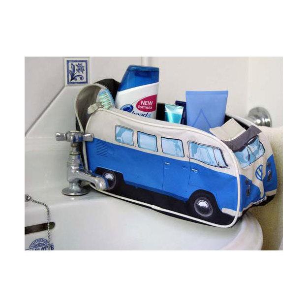 VW Bulli Kulturbeutel Washbag blau