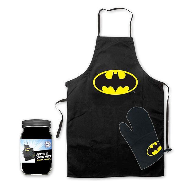 Batman Grillschürze und Ofenhandschuh Logo