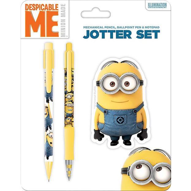 Set Minions avec stylo, porte-mine et mini-bloc-notes Dave