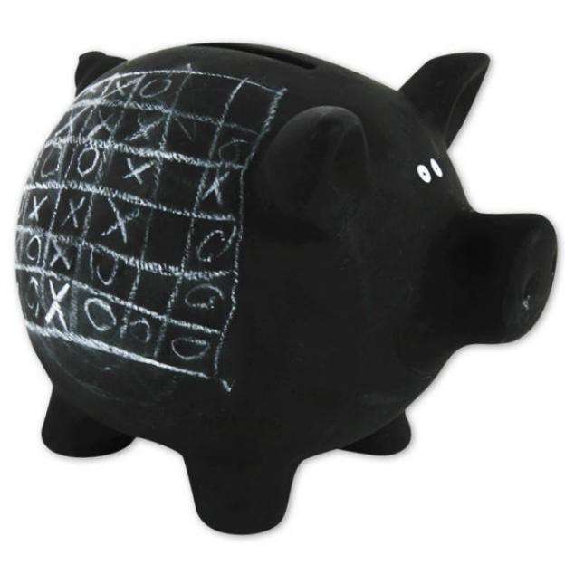 Tirelire cochon ardoise